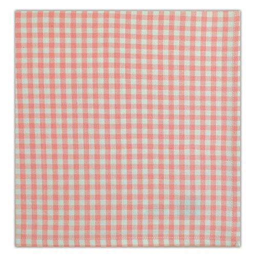 DII Servietten, 100% Baumwolle, Oversized Basic Everyday 20 x 20 cm, 6 Stück Pink Sorbet Check