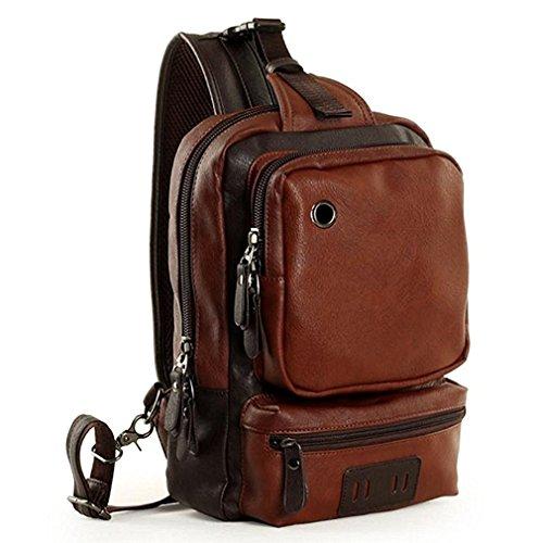 Yilooom  Chest Pack,  Herren Daypack, Chest Pack, braun, Shoulder Bag*1 (Camera Coach Bag)