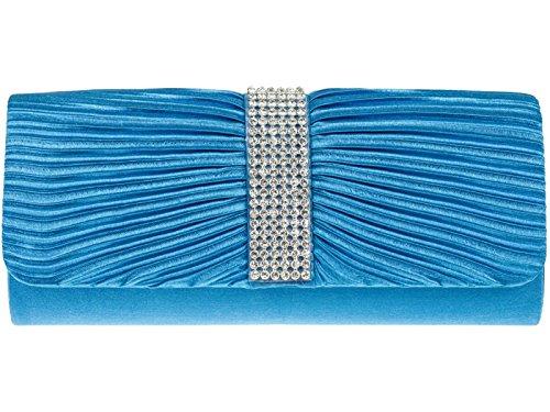 fi9®, Poschette giorno donna Multicolore Multicolore Multicolore (Blu turchese)