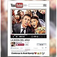 Marco Photocall Personalizado YouTube. CARTON PLUMA de 5mm. Tamaño Standard.