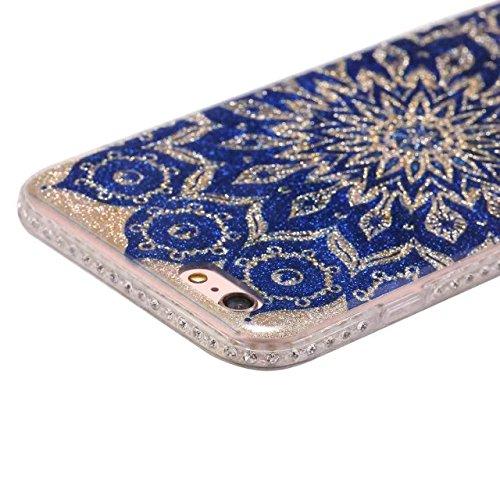 Bling Sparkle Glitter Rhinestone Resin Diamant Schützende Rückseite Cover Case Soft TPU Shell Stoßfänger [Shock Absorbtion] für iPhone 6 Plus & 6s Plus ( Color : C ) F