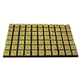 3x Grodan Tray 77 Anzuchtmedien aus Steinwolle je block 4cm x 4cm in Kunststoffschale 53cm x 32 cm inkl. Greenception Wuchs Dünger 100g -