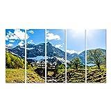islandburner Bild Bilder auf Leinwand Karwendel-Berge in