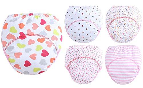 Set mit 5 Höschen Baby Mädchen-Jungen-Windel-Abdeckungs-Schlüpfer ohne Spitze-Schlüpfer-Baby Unisex ohne Knopf Elastische Größe 24-38 Monate