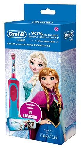 Oral-B Vitality 81633850 Bambino Spazzolino rotante-oscillante Blu, Rosa spazzolino elettrico