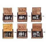 Chidjon Retro Holz Spieluhr Hand klassischen Handkurbel Musik Box für Geschenke Musik-Box Hand-hölzerne Spieluhr kreative Holz Handwerk beste Geschenke für Kinder, Freunde