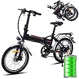 Bunao Vélo électrique Pliant pour vélo de Montagne électrique de Vitesses Shimano...