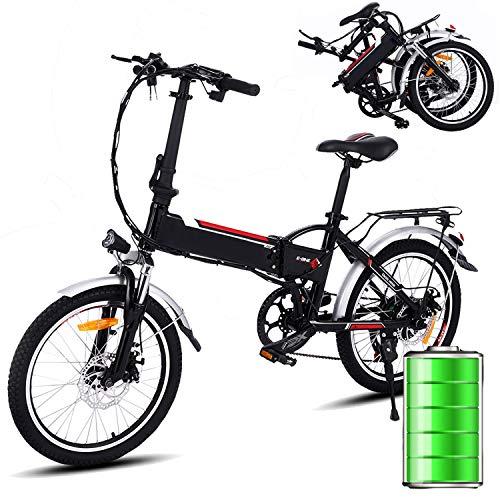 Bunao Vélo électrique Pliant pour vélo de Montagne électrique de Vitesses Shimano à 7 Vitesses,...