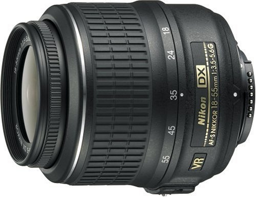 Nikon 18-55mm f/3.5-5.6G AF-S VR DX - Objetivo para Nikon F (distancia focal 27-83mm, apertura f/3.5, estabilizador, diámetro: 52mm) color negro