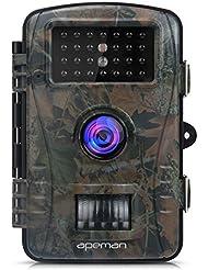 """APEMAN Caméra de Chasse Full HD 2.4 """"LCD 26PCS 940nm IR LEDs Avec Accéléré 60° Grand Angle Vision Nocturne jusqu'à 65 pieds/20m"""