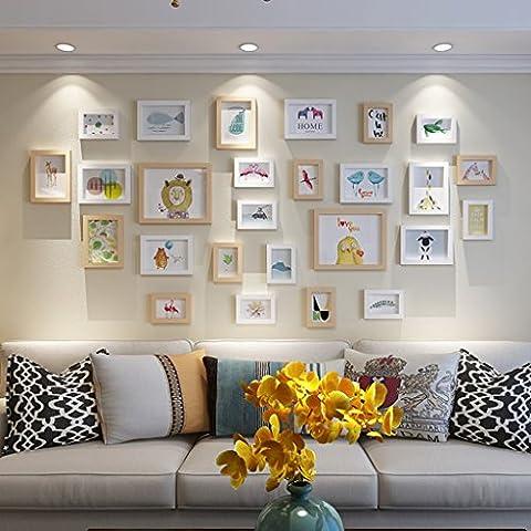 Salon moderne simple décoration murale photo créative combiné mur de plomb Cadres photos multi-images ( Couleur : D )