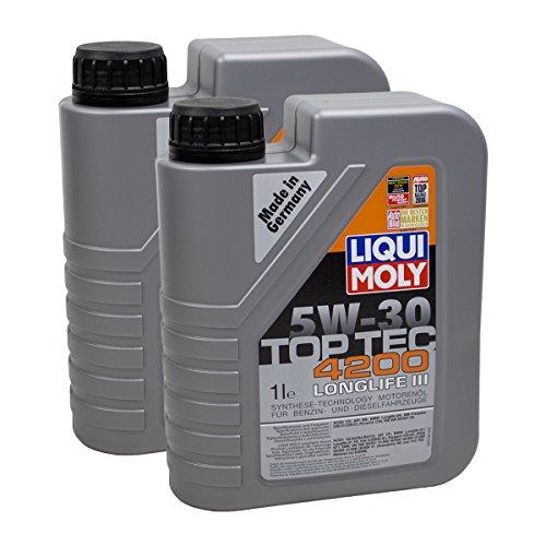 Preisvergleich Produktbild 2x LIQUI MOLY 3706 Top Tec 4200 5W-30 Motoröl