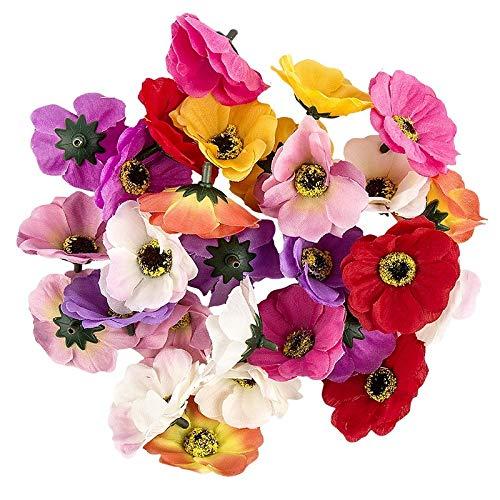 Ideen mit Herz Deko-Blüten, Kunstblumen, Blüten-Köpfe, Verschiedene Sorten, ca. Ø 4-5 cm