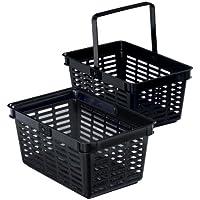 Durable - Cesta de compra (6 unidades), color negro