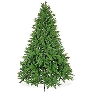 Künstlicher Weihnachtsbaum 240cm in Premium Spritzguss Qualität, grüne Nordmanntanne, Tannenbaum mit PE Kunststoff Nadeln, Nordmannstanne Christbaum