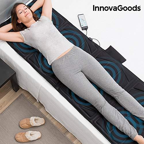 InnovaGoods Relax Cloud - Esterilla masajeadora corporal, 14 W, color negro