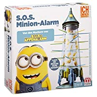 Mattel-52563-SOS-Affenalarm-Geschicklichkeitsspiel Mattel Games 52563 – S.O.S. Affenalarm Kinderspiel geeignet für 2 – 4 Spieler, Kinderspiele ab 5 Jahren -