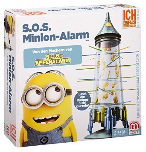 Mattel Spiele FFC11 - S.O.S. Minion-Alarm, S.O.S. Affenalarm Sonderedition - Karte-spiel Affe