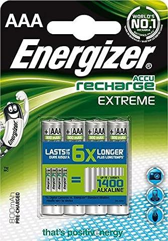 Energizer Akkus Extreme/ 635751, 800 mAh Micro AAA HR03 Inh.