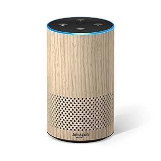 Amazon Echo (2. Gen.), Intelligenter Lautsprecher mit Alexa, Eiche Optik