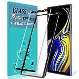 TAURI Protection écran pour Samsung Galaxy Note 9 [Couverture Complète] [9H Dureté] Film Protection Verre Trempé - Noir