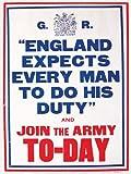 England Expects Every Man blechschild (og 2015)