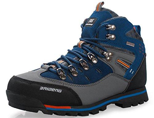 GNEDIAE para Hombre Botas de Senderismo Impermeables de Ocio al Aire Libre Zapatos de Deporte Zapatillas de Senderismo Cordones Trainer Botas 39-46