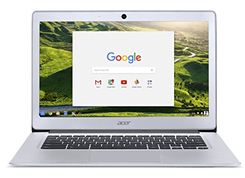 Acer Chromebook CB3-431 14 with 14 inch Full HD, Celeron Quad Core N3160, 4 GB RAM, 32 GB Storage, Chrome OS - Silver