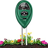 Soil Tester, 3-in-1 Plant Moisture Meter Light and PH Tester for Home, Garden, Lawn, Farm, Indoor and Outdoor
