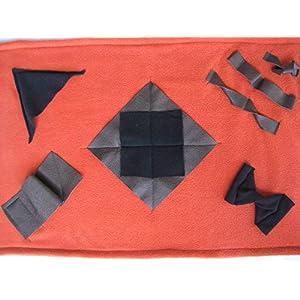Leckerli Suchdecke terrakotta als Suchspiel und zum Schnüffeln für Hunde