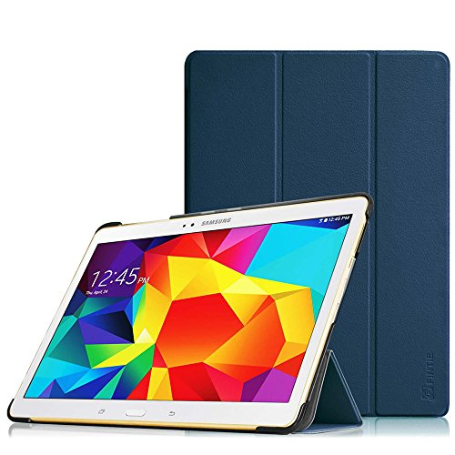 amsung Galaxy Tab S 10.5 T800 T805 (10,5 Zoll) Tablet-PC - Ultra Schlank superleicht Ständer SlimShell Cover Schutzhülle Etui Tasche mit Auto Schlaf/Wach Funktion, Marineblau ()