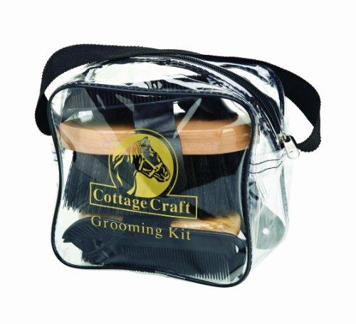 Cottage Craft - Kit per pulizia del cavallo, colore: Nero