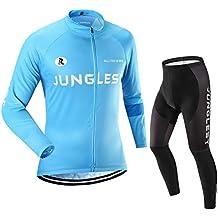 (Cojín 3D)(traje(Forro polar) tamaño:XXL) Hombre Ciclismo Ropa Maillots Pantalones pantalón Set Conjunto jerseys