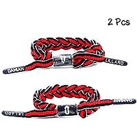 Lorh's store Basketball Team Sterne Armbänder Hand weben Verstellbare Sport Schnürsenkel Armband 2 Stück