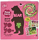 Bear Nibbles Pure Raspberry Fruit Yoyo, 100g Roll (10 fruit rolls)