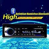 ETbotu Moto Bluetooth de Voiture Lecteur MP3Audio Stéréo 4x 60W Radio de Voiture 12V Intégré au Tableau de Bord 1DIN FM entrée auxiliaire récepteur