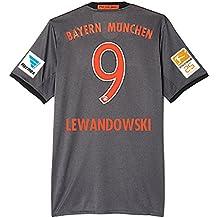 Adidas FC Bayern München Fussball Trikot Away 2016 2017 Kinder Lewandowski 9 mit Bundesliga Meister