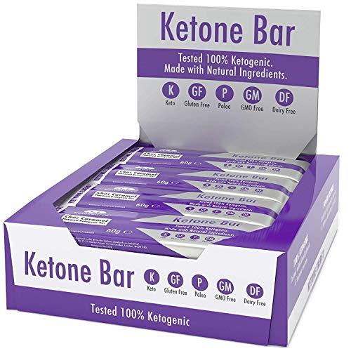 ¿QUÉ ES UNA BARRA DE KETONE?   Una barra que ha sido diseñada desde cero para ser tanto cetogénica como para aumentar las cetonas. Es una barra de proteína moderada alta en grasa y baja en carbohidratos que contiene aceite Pure C8 MCT.   El aceite P...