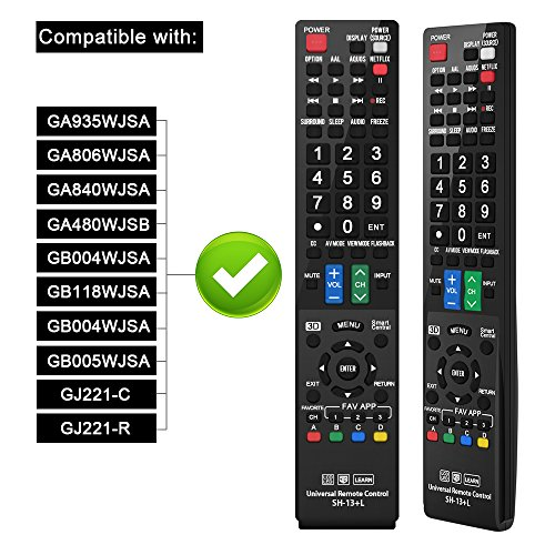 Gvirtue Sharp Universal Remote Control for Almost All Sharp Brand LCD LED  HD TV Smart TV GB004WJSA GB005WJSA GA890WJSA GB118WJSA GJ221-C GJ221 SH-13  L