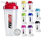 PROELITE Protein Shaker Bottle 600ml to 700ml Unisex Mixball Water Diet Shake Mixer (Purple)