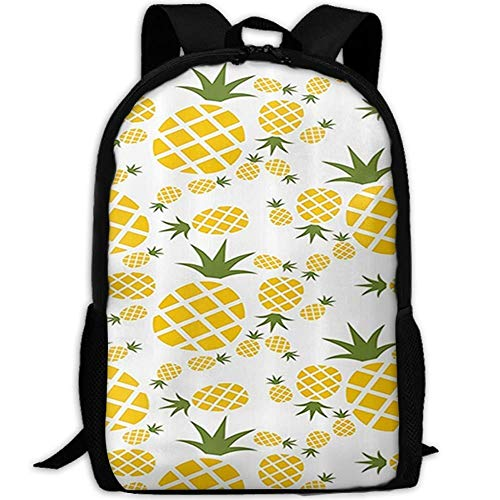 HOJJP Schultasche Pineapple Pictogram Decorative School Backpack for Girls Teens Bookbag Cute School Bag Set Water Resistant Travel Daypack (Girl Teen Cute)