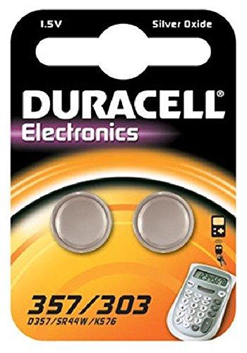 Knopfzellen-Batterie 357/303 DURACELL DUR936885 2St 357-batterien