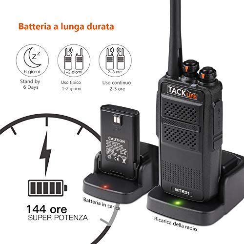 Zoom IMG-3 walkie talkie professionali tacklife mtr01