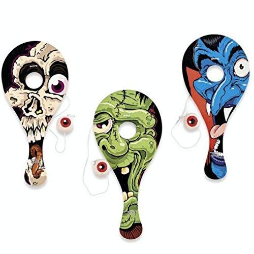 Zombie Ballspiel Spiel Geschicklichkeitsspiel Paddleball Halloween Monster Mitgebsel ()