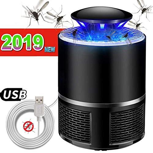 LMFLY Lamp Mückenlampe Haushalt Innen- USB-Lade Moskito-Killer Geeignet für Mutter und Kind Stumm Strahlungsfrei Insektenfalle (Color : Black)