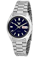 Seiko 5 Mens Silver Stainless Steel Day & Dat