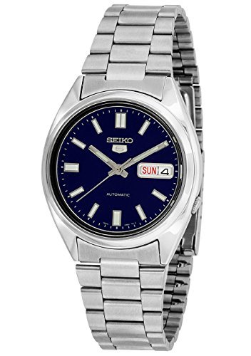 Seiko 5 Mens Silver Stainless Steel Day & Date Watch SNXS77