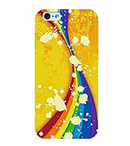 CURTAINS PATTERN IN A YELLOW BACKGROUND 3D Hard Polycarbonate Designer Back Case Cover for Apple iPhone 6