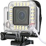 XCSOURCE LED flash Bague d'objectif USB unique lumineux de prise de vue Flash annulaire LED Ring Flash pour Appareil Photo Sport GoPro Hero 3 3+ 4 Boîtier étanche OS246