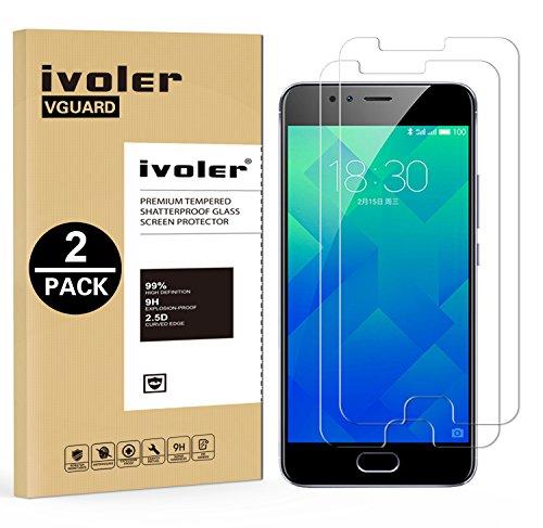 iVoler [2 Pack] Pellicola Vetro Temperato per Meizu M5S [Garanzia a Vita], Pellicola Protettiva, Protezione per Schermo
